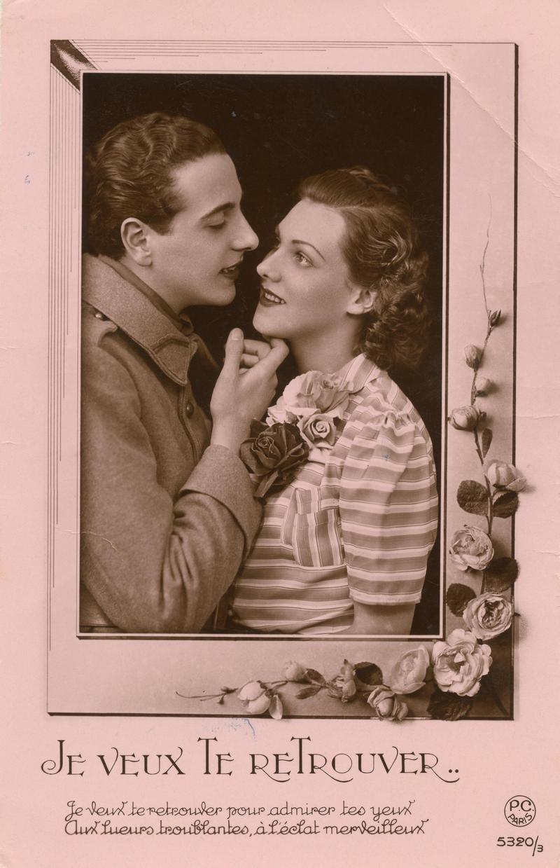 Carte postale envoyée par Albert à Simone en 1940.