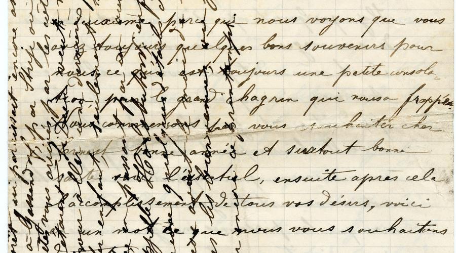 Lettre écrite par Emil Krafft à un ami de Charles (Karl) Krafft, le 11 Janvier 1926. Emil lui raconte son voyage pour se recueillir sur la tombe de son fils enterré à Uliczno-Gassendorf, en Pologne.