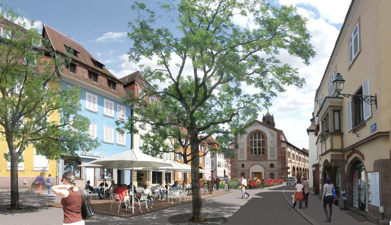 Entr e nord du centre ville d but des travaux ville de for Paysagiste selestat