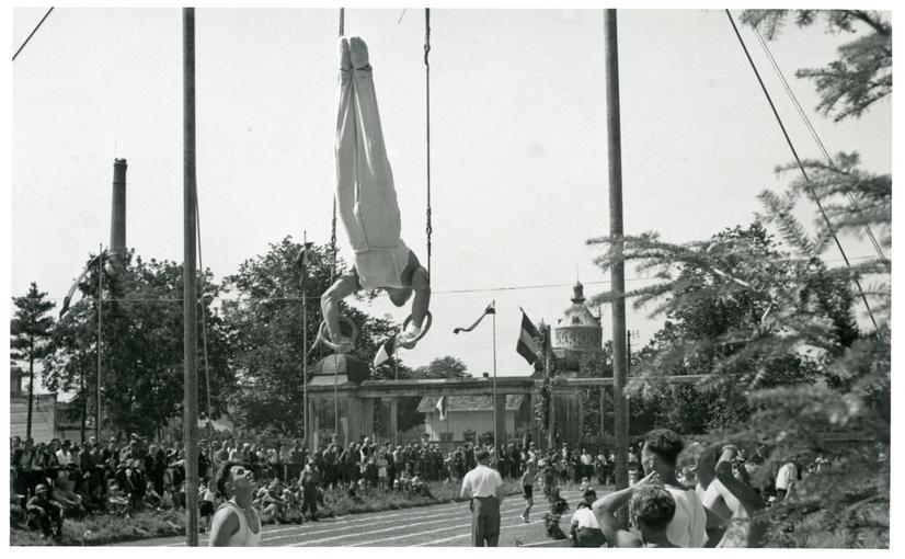 Animation sportive lors de la fête du 14 Juillet.